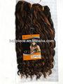 Fibra de kanekalon mistura de cabelo humano, extensão do cabelo