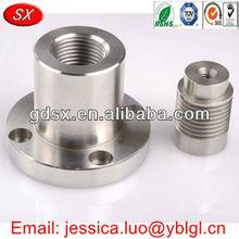 China Dongguan manufactory custom made cnc machining aluminum parts,flat head plain bolt and thread inserts for aluminium