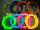 Multi color el wire el flashing wire