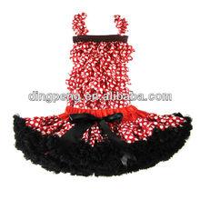 baby tops and skirt set dot pettiskirt dresses for halloween