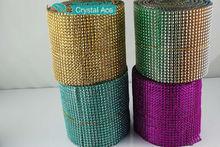 18,24,30,50 rows rhinestone trim / plastic rhinestone mesh trim