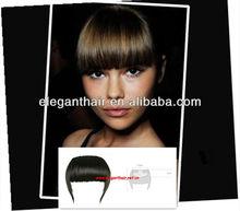 Wholesale 100% human hair bangs ,clip-on human virgin hair ,hair fringes