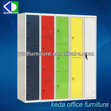 Lovely candy color vertical 4 tier metal storage locker,steel cabinet locker