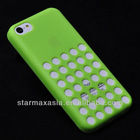 Hollow Hole Dots TPU Mobile Phone Case For iPhone 5C