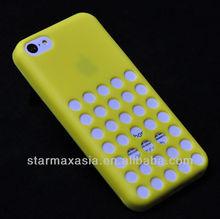 Fashionable Dot Hole Design Soft TPU Case for iphone 5C