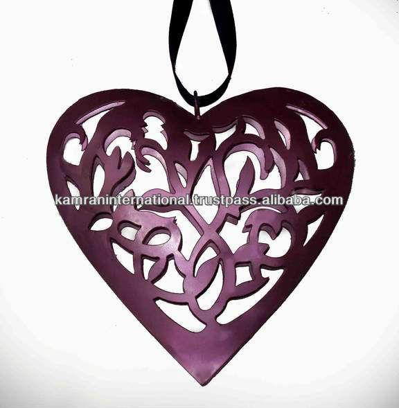 Heart shaped metal wall decor metal heart shape dcoration hanging decorative heart wall hanging - Heart wall decoration ...