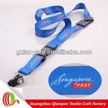 OME custom polyester airline lanyard high quality printed