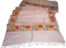 pura lana de cachemira bordado chales de pashmina