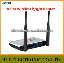 full test OEM 300M 802.11b/g/n plastic case with two external antenna long distance wireless acces point portable wifi router