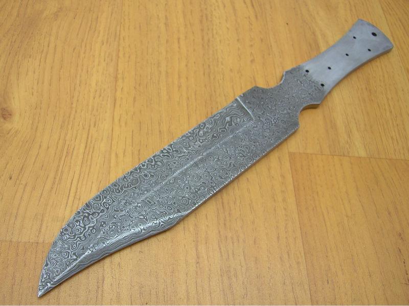 Damascus Steel Knife Blanks Damascus Steel Bowie Knife