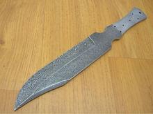Damascus steel bowie knife blank