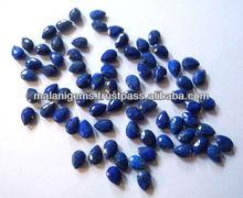 Natural Lapis Lazuli 6x4mm Pear Facet Briolettes Stones