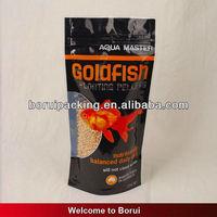 Top zip lock fish food bag for packing,Printed plastic fish food bag/custom fishing packaging/printed zip lock poly bags