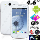 Capacitive Multi-touch Android 4.0 MTK6577 Dual-core 3G Smart Phone+ GPS+ WiFi+ 8MP Camera - White