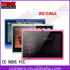 Best China 7 inch Cheap Android 4.0 Q88 2G Mini MID Tablet PC With Sim Cards Slot GSM Manufacture FCC ROHS CE
