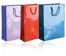 matte plastic laminated paper bags