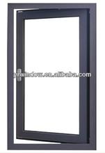 Aluminum Window Awning Type With Double Glass Rehau Window