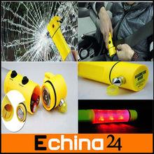 Car 5 in 1 Flashlight Hammer Cutter Alarm Emergency Auto Tool Multi-function