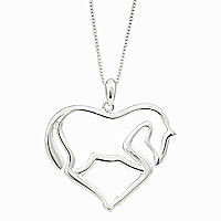 Vintage 925 Sterling Silver Equestrian Necklace ,925 Silver Horse Necklaces,925 Silver Western Pendant Jewelry