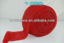 wholesale fashion fancy cup chain crystal/elastic rhinestone trimming mesh