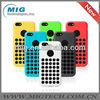 Slim Dotted silicone cell phone case for iphone 5C, for iphone 5c cover