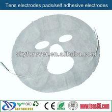 face massage tens/ems unit electrodes pads for silk skin