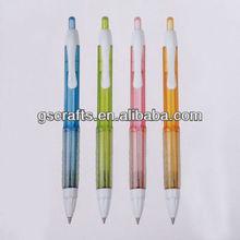 clear rubber grip plastic click ballpoint pen ball pen