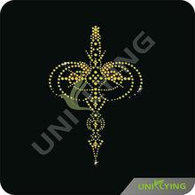 Gold rhinestone transfer garment accessories metal trims