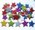 2mm espessura em forma de estrela decorativa feliz x'mas ouro eva glitter etiqueta