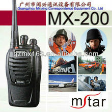 Portable MX-200 security guard mini two way radio intercom/interphone