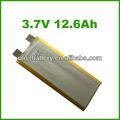 De alta potencia de la batería de la célula 3.7v 12.6ah 8070170 recargable de litio de la batería para el sistema solar