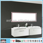 low price european style bathroom vanity with double sinks
