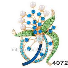Rhinestone pin brooch Imitation pearls pin brooch top grade alloy pin brooch