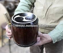 mini wooden musical instruments hang drum taiko