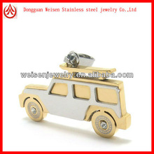 Stainless steel gold car hanging necklace pendant
