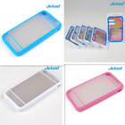 TPU PC bumper cover for iphone 4/4S color case with good quality