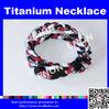 Sports Multicolor Braided Custom Titanium Cheap Necklace
