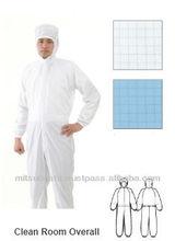 class 100 antistatic lasercut all covering lab coat