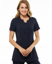 Newest 100% cotton Black salon and spa uniform
