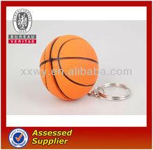 PU Basketball Keychain, Promotional Keychain