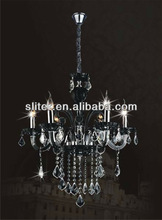 Chandelier with k9 black pendentes from zhongshan