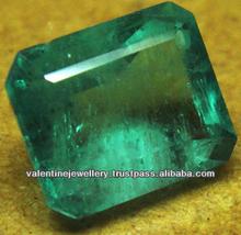 Emerald Zambian gems precious stones, GREEN NATURAL ZAMBIAN EMERALD, octagon zambian emerald stone