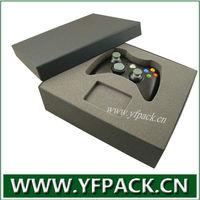Black Gamepad Toy Packaging Box with Black Foam insert