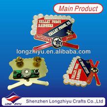 High quality metal custom cheap led car badge/car emblem flashing gold lapel pin badges