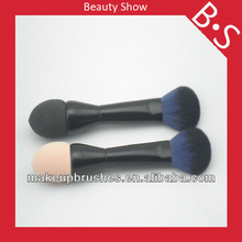 Professional two sides make up brush,two sides foundation/powder makeup/cosmetic brush,custom logo makeup brush