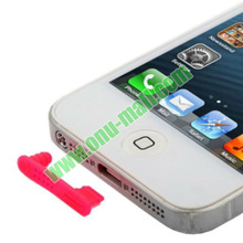 New Arrival earphone jack dust cap plug for iphone 5(Black)