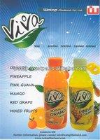 Custom Plastic Bottled Sterilized Concentrate Fruit Juice