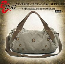 Fahion korean hobo camel canvas woman designer handbag