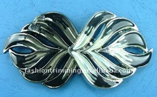 Gunmetal leaf shaped garment accessories belt buckle
