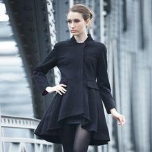 YIGELILA Women Fashion Short Front Long Back Winter Coat 9100